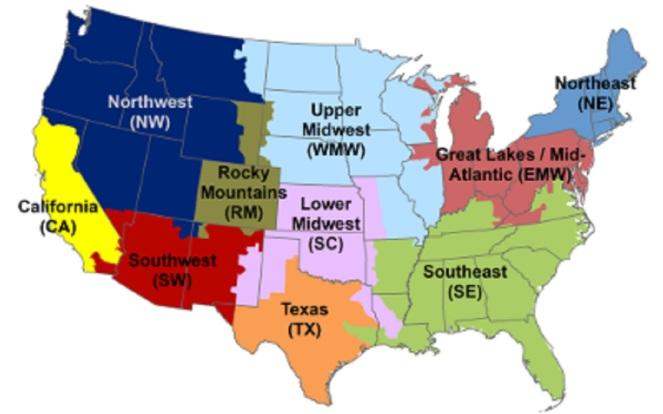 US AVERT Map