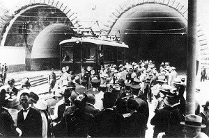 Italy's first metrorail