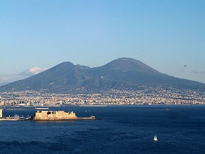 Naples bay and Vesuvius