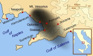 Vesuvius 79 AD Eruption and affected towns