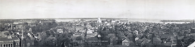 Annapolis anorama from State House 1911