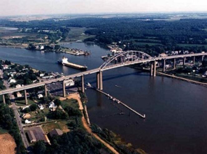 Chesapeake & Delaware Canal from Chesapeake City