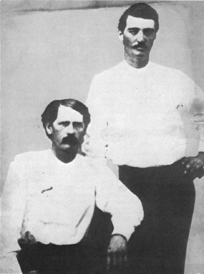 Wyatt Earp and Bat Masterson 1876