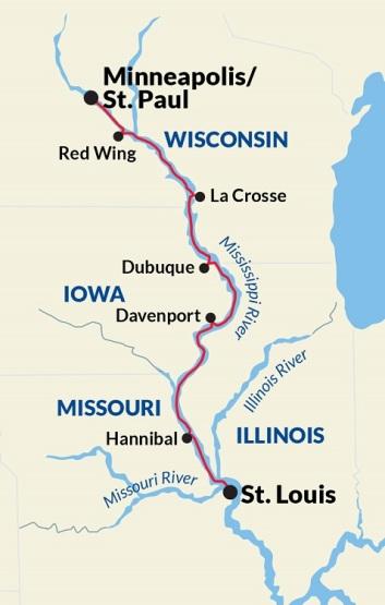 Upper Mississippi River Ports of Call