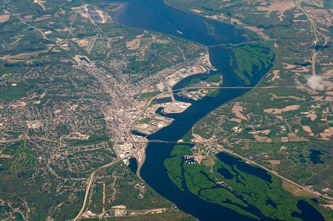Dubuque Aerial View