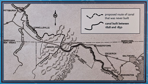 Map of C and O Canal