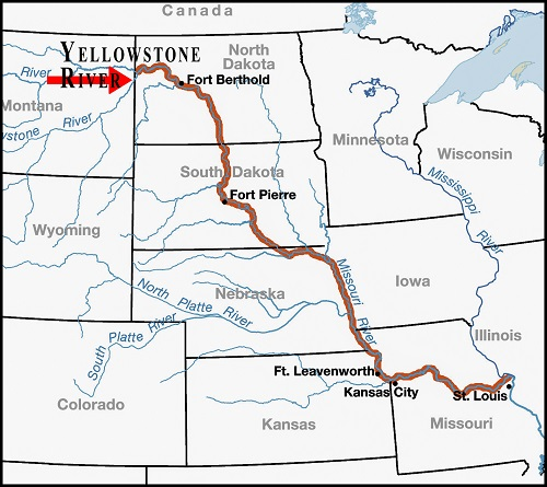 Map of Missouri River