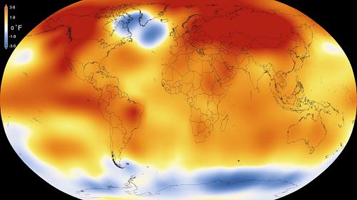 NASA-2015 Record Warm Global Year Since1880